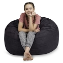 3' CuddleBag Round with Matching Head Pillow and Ottoman