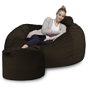 5' CuddleBag Lounger with Matching Head Pillow and Ottoman