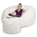 6' CuddleBag Round with Matching Head Pillow and Ottoman
