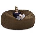 7' CuddleBag Round with Matching Head Pillow and Ottoman
