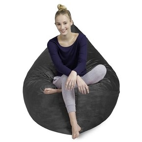 CuddleBag Pillow Sack with Matching Head Pillow and Ottoman