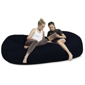 7.5' CuddleBag Lounger with Matching Head Pillow and Ottoman