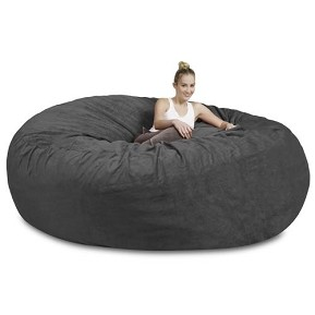 8' CuddleBag Round with Matching Head Pillow and Ottoman
